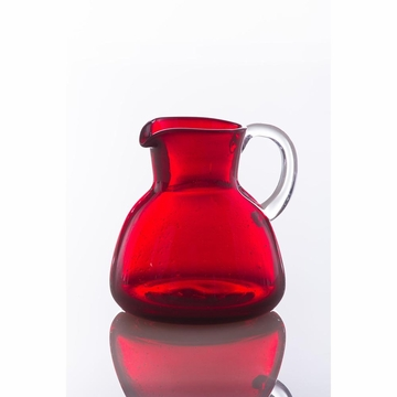Abigails Pitcher with Bubbles Red (Set of 2)