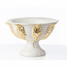 Abigails Roma Gold Acanthus Footed Compote