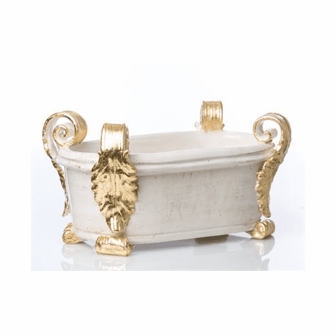 Abigails Roma Gold Acanthus Oval Centerpiece