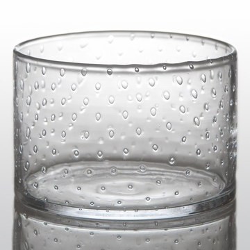 Abigails Seeded Bubble Glass Salad Bowl Tall