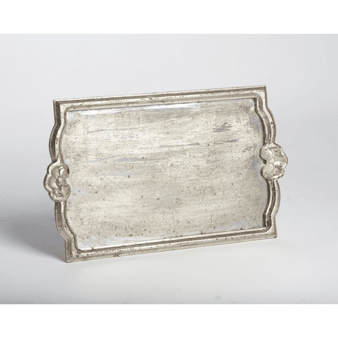 Abigails Silver Antiqued Mirror Tray Large