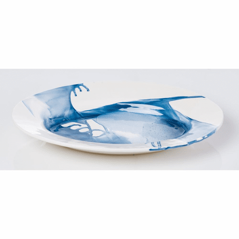 Abigails Splash Platter Blue