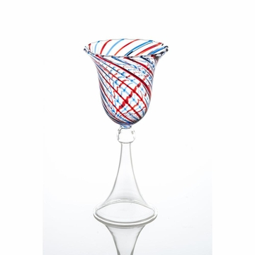 Abigails Swirl Red & Blue Wine Glass (Set of 4)