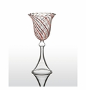 Abigails Swirl Red Water Glass (Set of 4)
