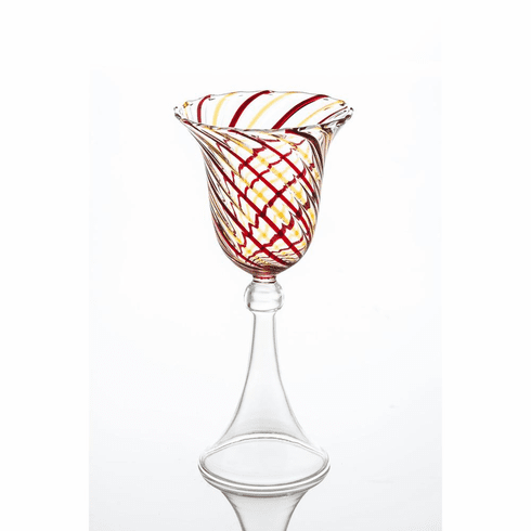 Abigails Swirl Red & Yellow Wine Glass (Set of 4)