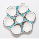 Abigails Turquoise Oyster Plate (Set of 2)