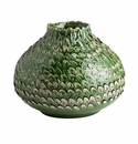 Abigails Vase Small Feather Green/Gray