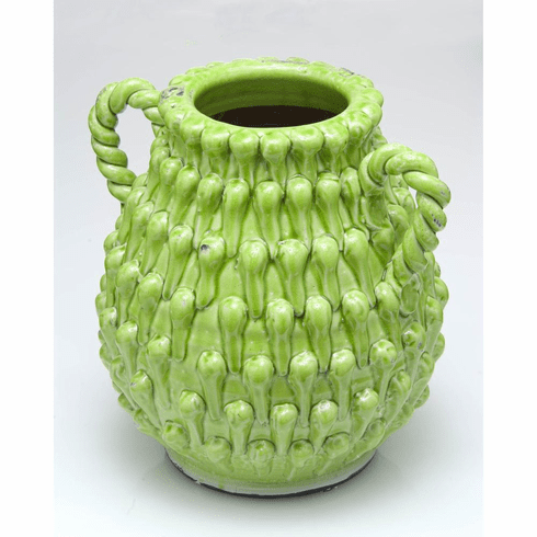 Abigails Vince Two-Handled Green Urn