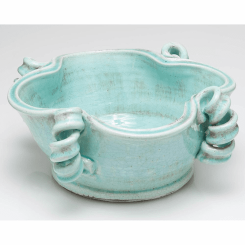 Abigails Vinci Light Aqua Centerpiece Bowl
