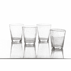 Abigails Water Glass with Bubbles Clear (Set of 4)