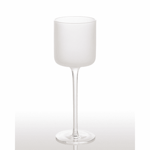 Abigails White Night Frosted Wine Glass (Set of 4)