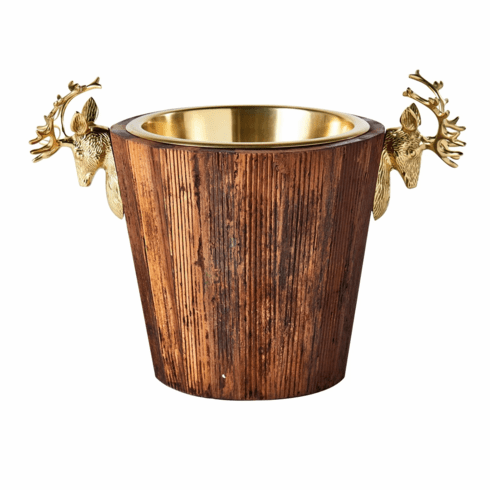 Abigails Wine Cooler with Brass Stags Head Handles