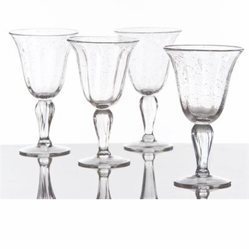 Abigails Wine Glass with Bubbles Clear (Set of 4)