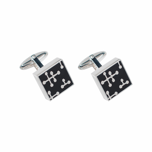 ACME Dots Black Cuff Links