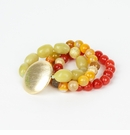 Ali & Bird Lemon Jade and Gold Disc Bracelet
