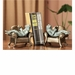 Aluminum Frogs Reading on Sofa Bookends by SPI Home