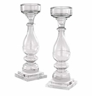 "Andrea by Sadek 17.5"" Clear Glass Candlestick (Sold Individually)"