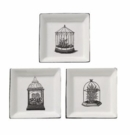 "Andrea by Sadek 5"" Decorative Terrarium Plates (Set of 3)"