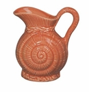 Andrea by Sadek Coral Porcelain Shell Pitcher