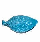 "Andrea by Sadek Dark Aqua 11.5"" Fish Serving Bowl"