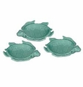 """Andrea by Sadek Turquoise 5"""" Sea Turtle Dish (Sold Individually)"""