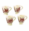 Andrea by Sadek Woodland Toile Mugs (Set of 4)