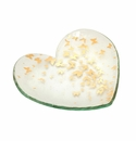 Annieglass 7 Butterfly Heart Plate - Gift Boxed Gold