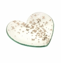 Annieglass 7 Butterfly Heart Plate - Gift Boxed Platinum