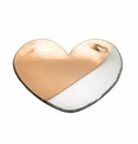 Annieglass 7 Mod Heart Plate Gold