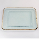 Annieglass Edgey 15.25 Large Square Platter Gold