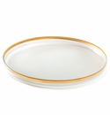 Annieglass Mod 18X11.5 Large Oval Platter Gold