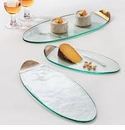Annieglass Mod 21.25X8.5 Large Cheese Board Platinum