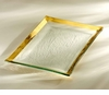 "Annieglass Roman Antique 14 � X 10"" Martini Tray  Gold"