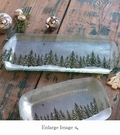 "Annieglass Winter Village 14"" X 10"" Party Tray"