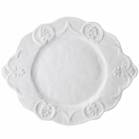 Arte Italica Bella Bianca Scalloped Charger