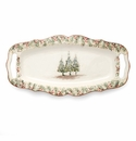 Arte Italica Natale Long Rectangular Tray with Handles