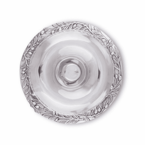 Arthur Court Chip and Dip Tray - Olive