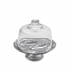 Arthur Court Designs Horse 8 inch Footed Plate with Glass Dome