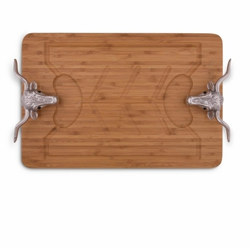 Arthur Court Designs Longhorn Bamboo Carving Board