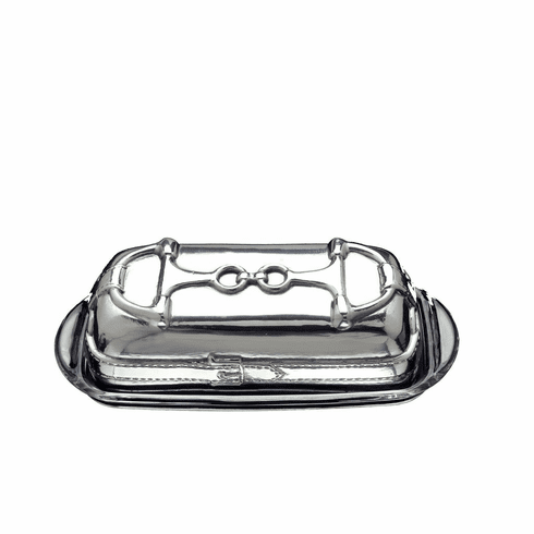 Arthur Court Equestrian Covered Butter Dish