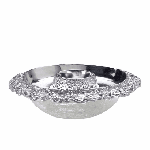 Arthur Court Grape Appetizer Tray with Glass Bowl
