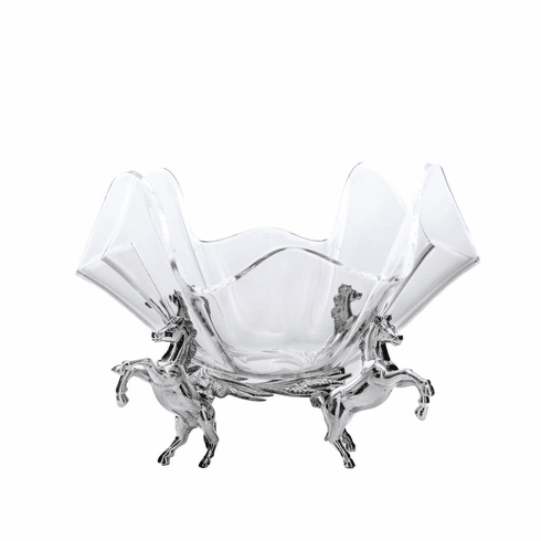Arthur Court Horse Stand With 11 inch Acrylic Bowl