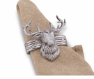 Arthur Court Napkin Rings - Elk Head
