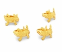 Arthur Court Napkin Rings - Gold Alligator