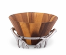 Arthur Court Wood Salad Bowl - Antler