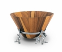 Arthur Court Wood Salad Bowl - Olive