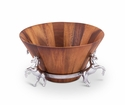 Arthur Court Wood Tall Salad Bowl - Horse