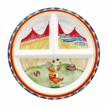 Baby Cie Amuses-Toi (Enjoy Yourself) Round Textured Section Plate