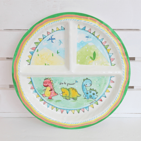 Baby Cie Be The Leader Round Sectioned Plate