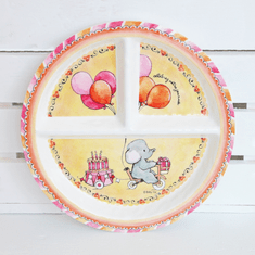 Baby Cie Celebrate Your Day Round Sectioned Plate
